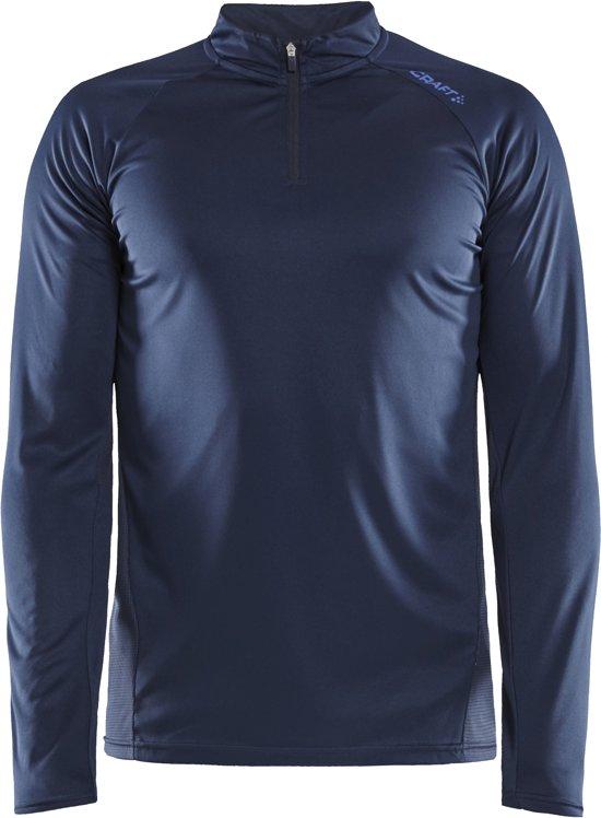 Craft Eaze Ls Half Zip Tee Heren Sportshirt - Blaze - XL
