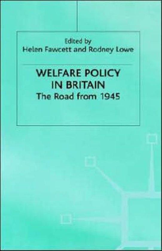 Boek cover Welfare Policy in Britain van Rodney Lowe (Hardcover)