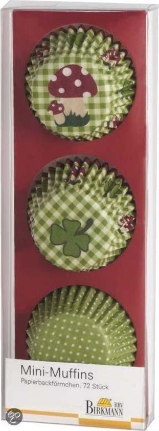 Birkmann Papieren Muffinvormpjes Luck Ø 4,5 cm - 72 Stuks