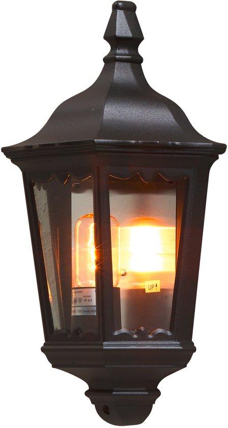 Konstsmide Firenze - Wandlamp flush 44.5cm - 230V - E27 - matzwart