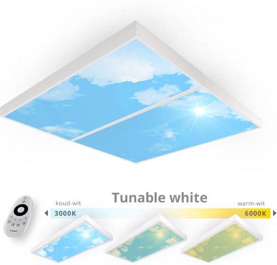Easy Daylight Panel   Wolkenplafond lamp   Set van 2  – Tunable White