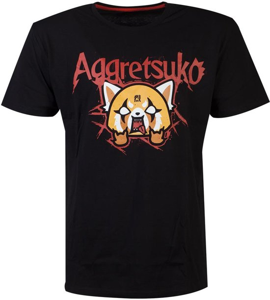 Aggretsuko Heren Tshirt -2XL- Trash Metal Zwart