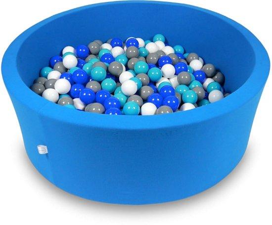 Ballenbak - 500 ballen - 115 x 40 cm - ballenbad - rond blauw