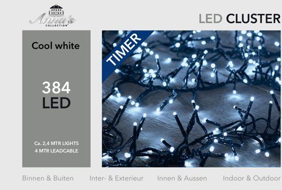 bol.com   CBD cluster verlichting LED - 2,4 m - koud wit