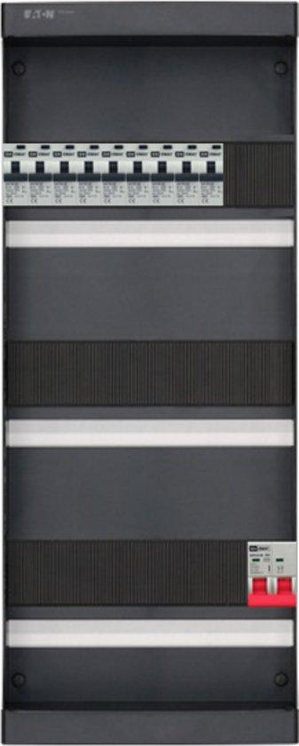 EMAT groepenkast 1 fase 9 aardlekautomaten en afmetingen 550x220 mm