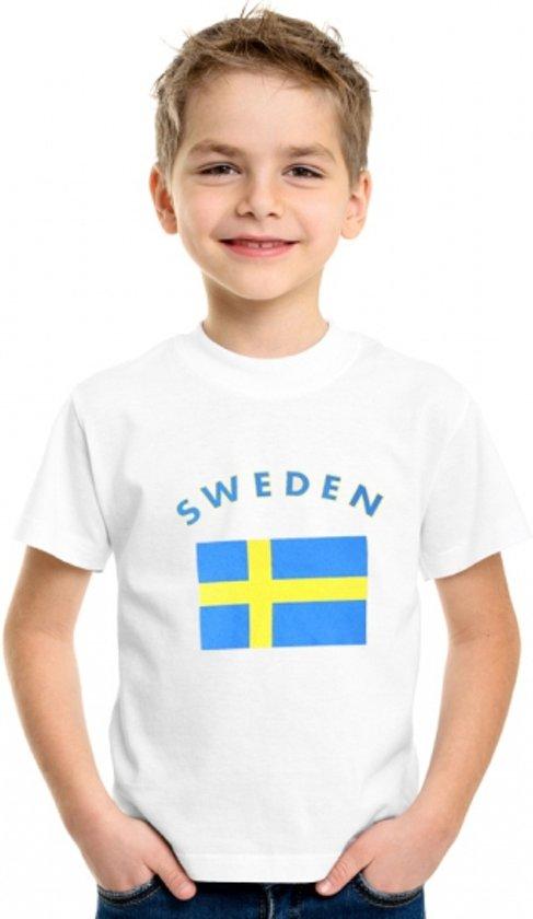 Zweden t-shirt wit kinderen Xs (110-116)