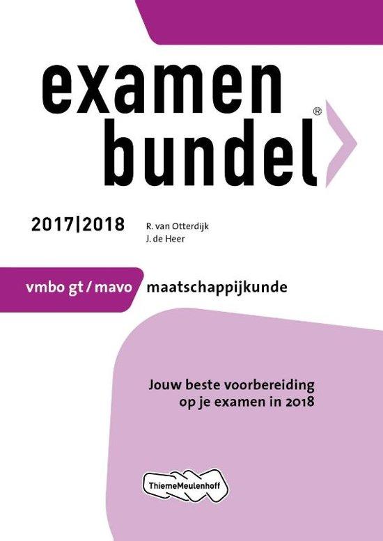 Examenbundel vmbo-gt/mavo Maatschappijkunde 2017/2018