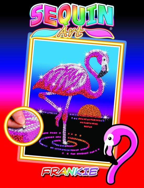 Sequin Art Pailletten Kunstwerk Frankie de Flamingo