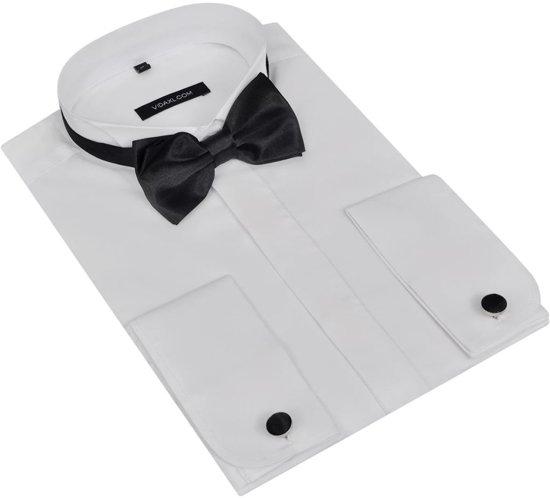 Heren Overhemd Met Manchetknopen.Bol Com Smoking Overhemd Heren Met Manchetknopen En Vlinderdas