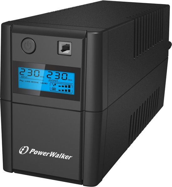 BlueWalker VI 650SE LCD Line-Interactive 650VA 2AC outlet(s) Toren Zwart UPS