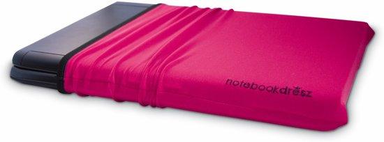 notebook dresz - rekbare beschermhoes voor laptops / tablets. Beschermt tegen krassen. Voor 15.6 inch laptops. Roze (magenta).