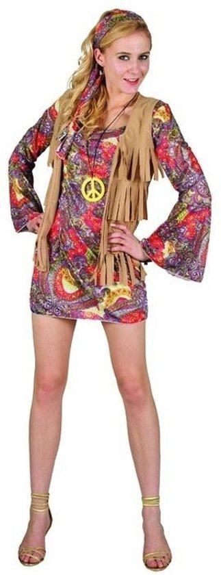 bol.com | Dames verkleed jurkje hippie M