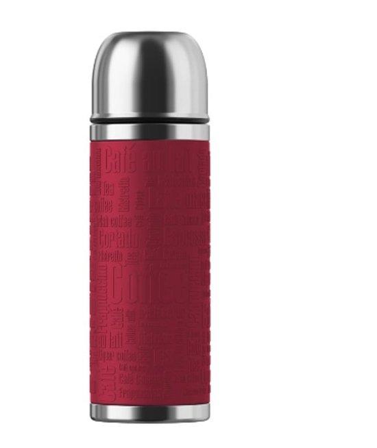 SENATOR isoleerfles. Safe Loc. 0.5 L RVS. siliconen sleeve/rood