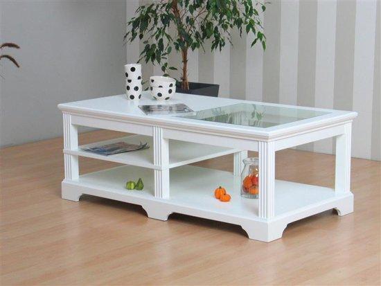 Salon Tafel Wit : Bol charlot salontafel wit met glazen blad