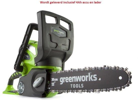 Greenworks G40CS30K4 Draadloze kettingzaag met 4Ah accu en lader | G-max 40 Volt | 30cm