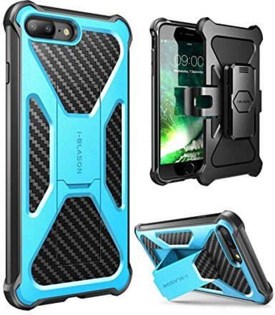 i-Blason iPhone 7 Plus extra beschermde hoes met standaard en houder blauw