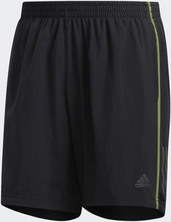 adidas OWN THE RUN SH Heren Sportbroek - black/tech olive - S