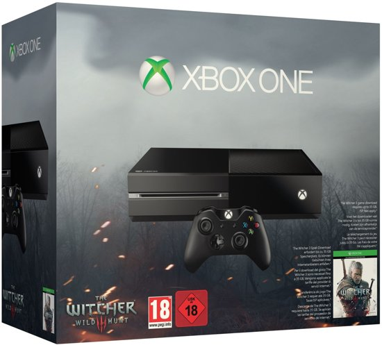 Microsoft Xbox One 500GB Console + 1 Wireless Controller + The Witcher 3: Wild Hunt - ...