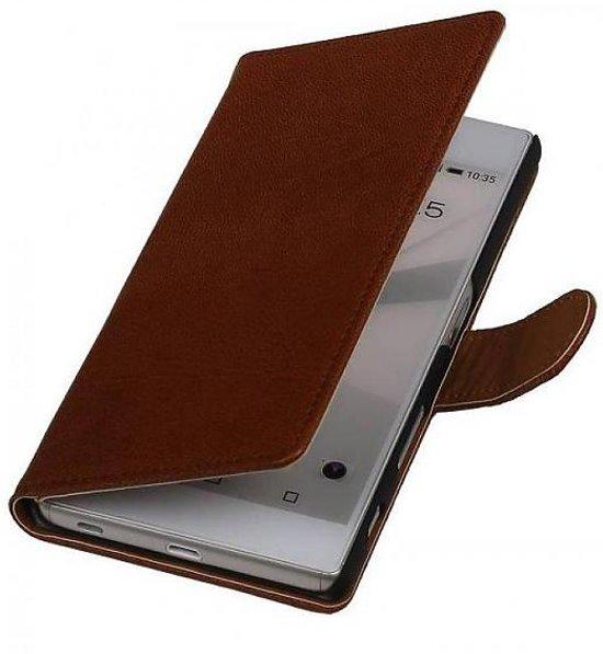 Mobieletelefoonhoesje.nl - LG Optimus L7 II P710 Hoesje Washed Leer Bookstyle Bruin in Waarschoot