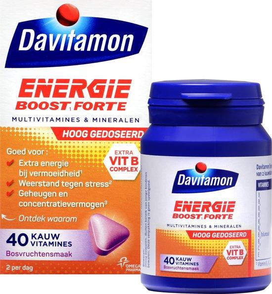Davitamon Extra Energie - multivitamine - bosvruchten - 40 tabletten