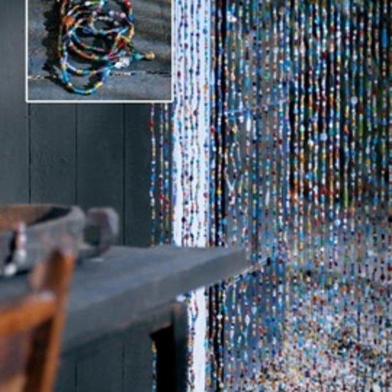 oosters glaskralengordijn met belletje 90 x 200 cm