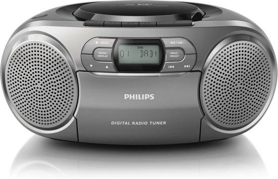 philips azb600 dab radio cd speler grijs. Black Bedroom Furniture Sets. Home Design Ideas
