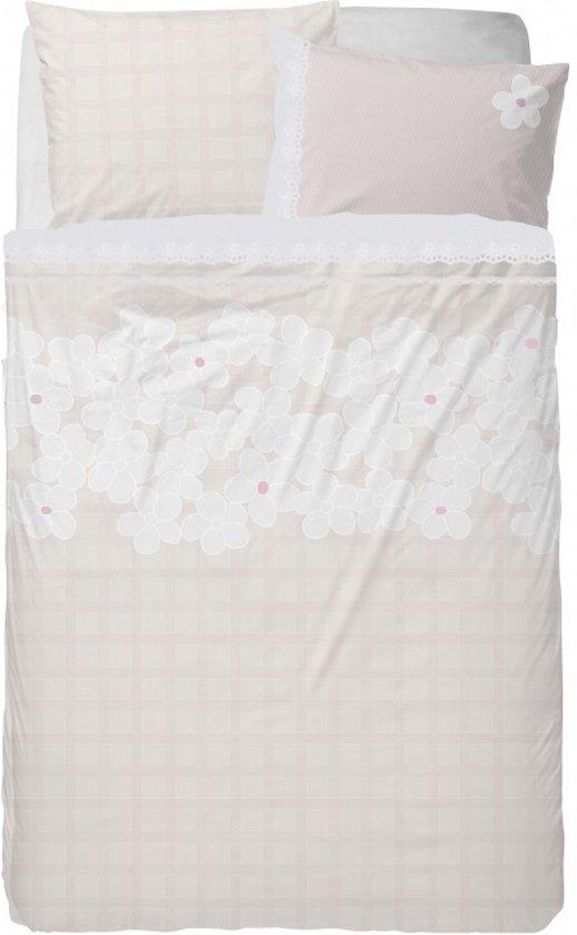 Stapelgoed Dekbedovertrek Flower Fields - Eenpersoons - 140x200 cm - Pink