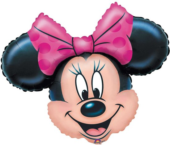 Minnie Mouse Roze Strik Folieballon Valentinaa