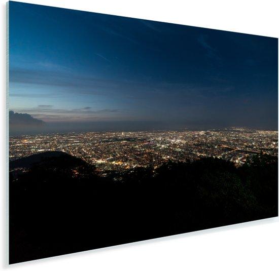 De skyline van Sapporo vlak voor zonsopkomst in Azië Plexiglas 120x80 cm - Foto print op Glas (Plexiglas wanddecoratie)