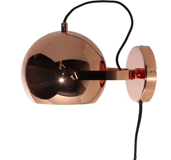 Frandsen Ball Handle - Wandlamp - Koper