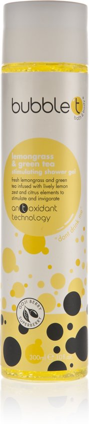 Bubble T Cosmetics Stimulating Showergel Lemongrass & Green Tea