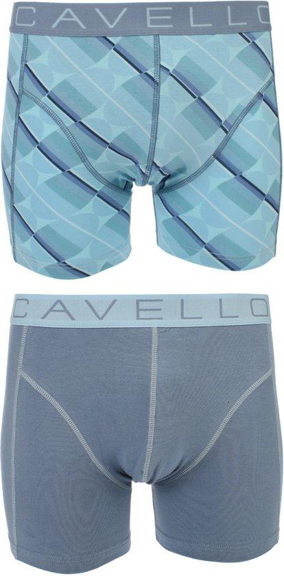 fa29c5fc201 bol.com | Cavello - 2-pack Boxershorts Blauw / Print - XXL