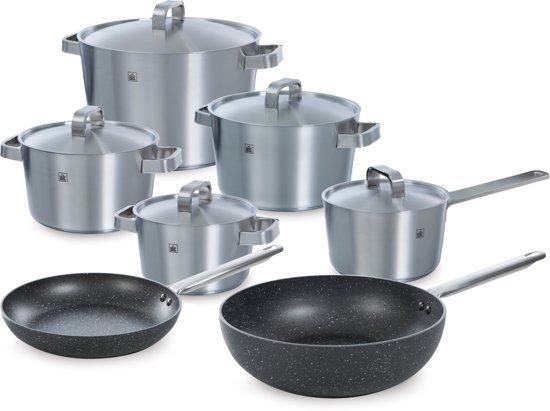 BK Conical Plus Pannenset 7-delig - incl. wok en koekenpan - inductie