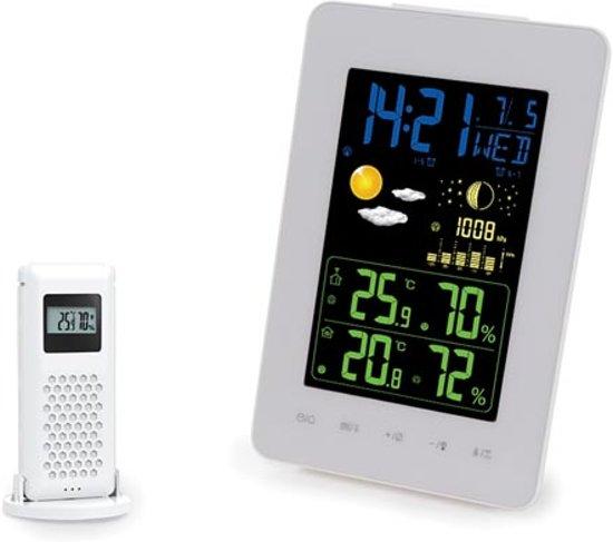 Draadloos Dcf-Weerstation Met Kleurendisplay - Thermometer En Hygrometer