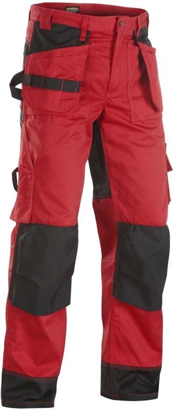 Blaklader Werkbroeken met kniestukken Rood/ZwartNL:62 BE:56
