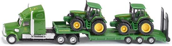SIKU 1837 Dieplader met John Deere-tractoren