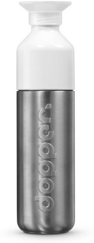 Dopper Drinkfles - Waterfles Dopper Steel 490 ml - roestvrij staal
