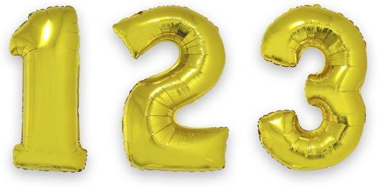 Goudkleurige nummer 2 ballon - Feestdecoratievoorwerp