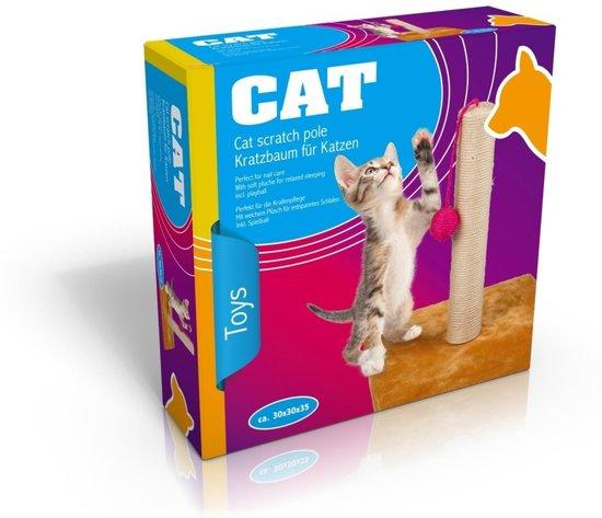 Katten/kitten krabpaal beige 35 cm