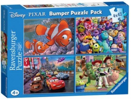 Puzzel Bumperpack Disney Pixar 4X42 Stuk