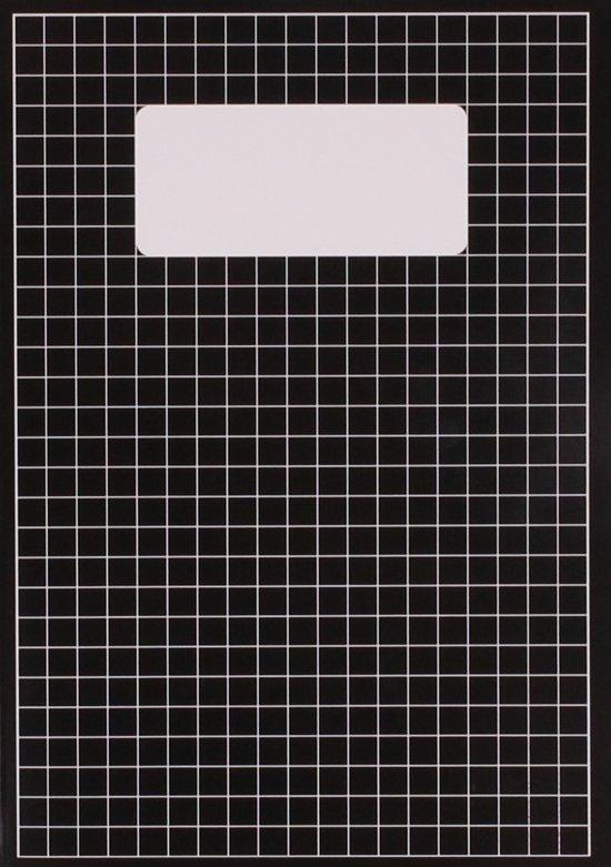 A4 schrift - ruit 10mm set van 2 stuks ix blauw en 1x zwart