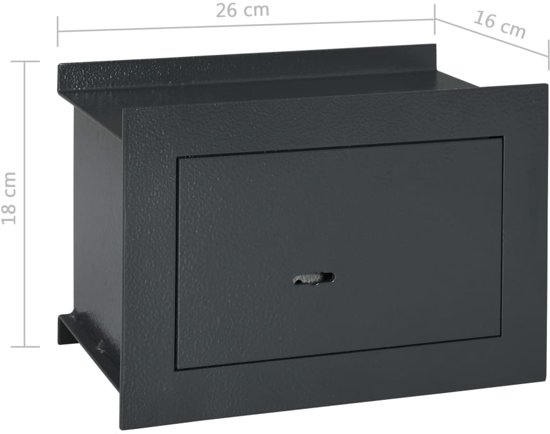 vidaXL Wandkluis 26x16x18 cm donkergrijs