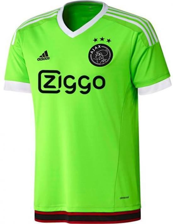 adidas Ajax Uitshirt Junior 2015/2016 - Voetbalshirt - Unisex - Maat 128 - Lime/Wit