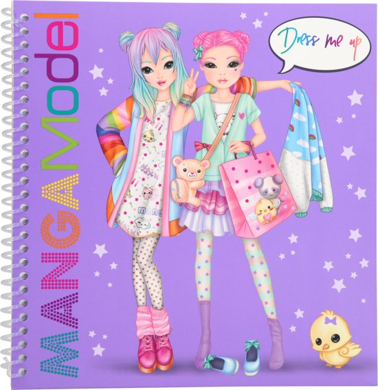 TOPModel MANGAModel dress me up stickerboek