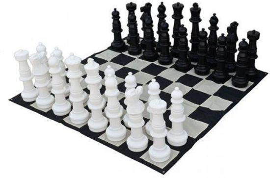 Afbeelding van het spel Tuin schaken groot - 90 cm