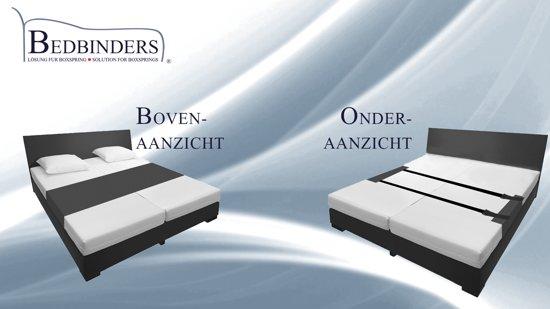 Zwart | Bedbinder Zwart | AllSize | 460cm x 50cm - 299gr | Stopt het Schuiven van uw Matrassen en vermindert de Geul in het Midden van uw Bed