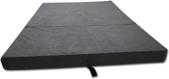 Logeermatras - camping matras - reismatras - opvouwbaar matras - 120 x 200 x 10 - grijs