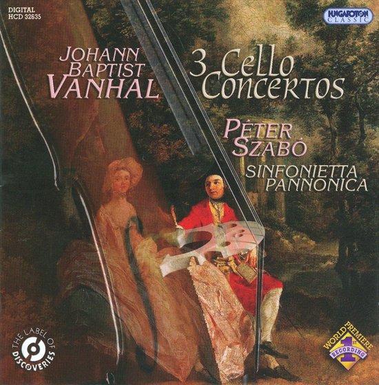 Johann Baptist Vanhal: 3 Cello Concertos