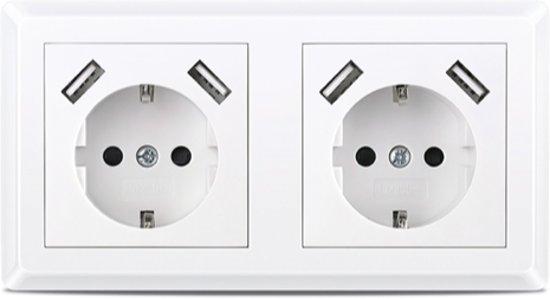 CoshX®, dubbel usb stopcontact, dubbele inbouw wanddoos usb