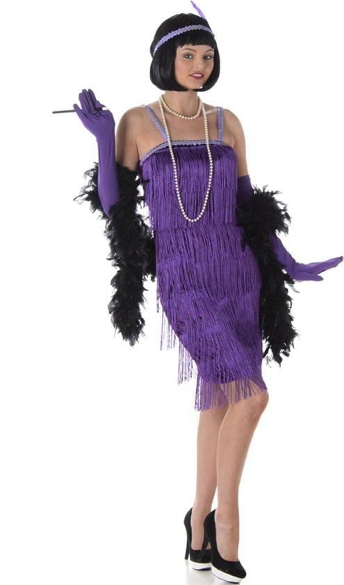 eb94eba5c277d5 Verkleedkleding - Flapper jurk - Charleston jurk voor vrouwen - Jaren 20  jurk - Paars -